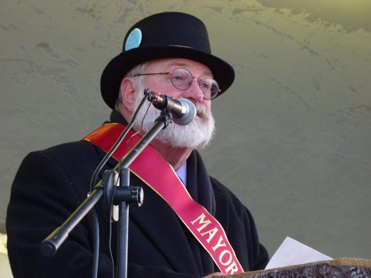 Milltown Mayor Eric Steeber on Groundhog Day 2019.