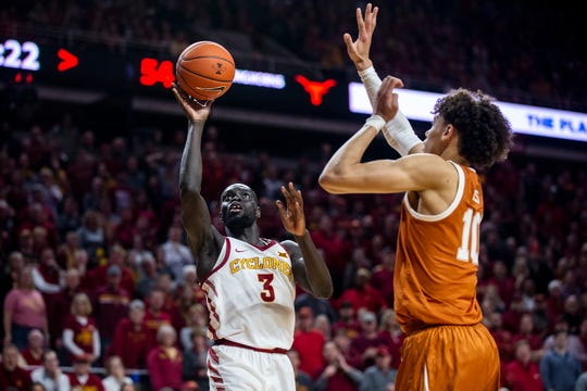 Iowa State's Marial Shayok shoots the ball during the Iowa State men's basketball game against Texas on Saturday, Feb. 2, 2019, in Hilton Coliseum. The Cyclones defeated the Longhorns 65-60.