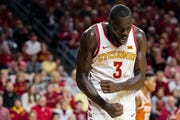 Iowa State's Marial Shayok shows some frustration during the Iowa State men's basketball game against Texas on Saturday, Feb. 2, 2019, in Hilton Coliseum. The Cyclones defeated the Longhorns 65-60.