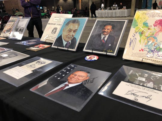 The Black History 101 Mobile Museum exhibit included signed autographs of African American politicians, activists and entertainers. The items were personal collections of Khalid el-Hakim before being showcased nationally since 2006.