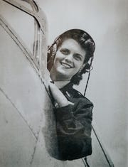 Mildred (Jane) Baessler, who now goes by Jane Doyle, was a member of the Women Airforce Service Pilots group, during World War II. Here, she's at the controls of a World War II airplane at Avenger Field in Sweetwater, Texas.