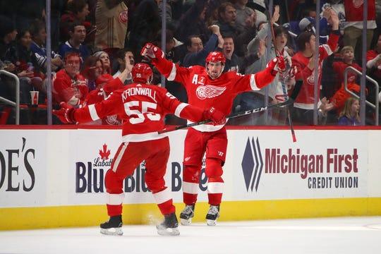 Dylan Larkin says veteran Niklas Kronwall is a huge part of the Detroit Red Wings' culture.