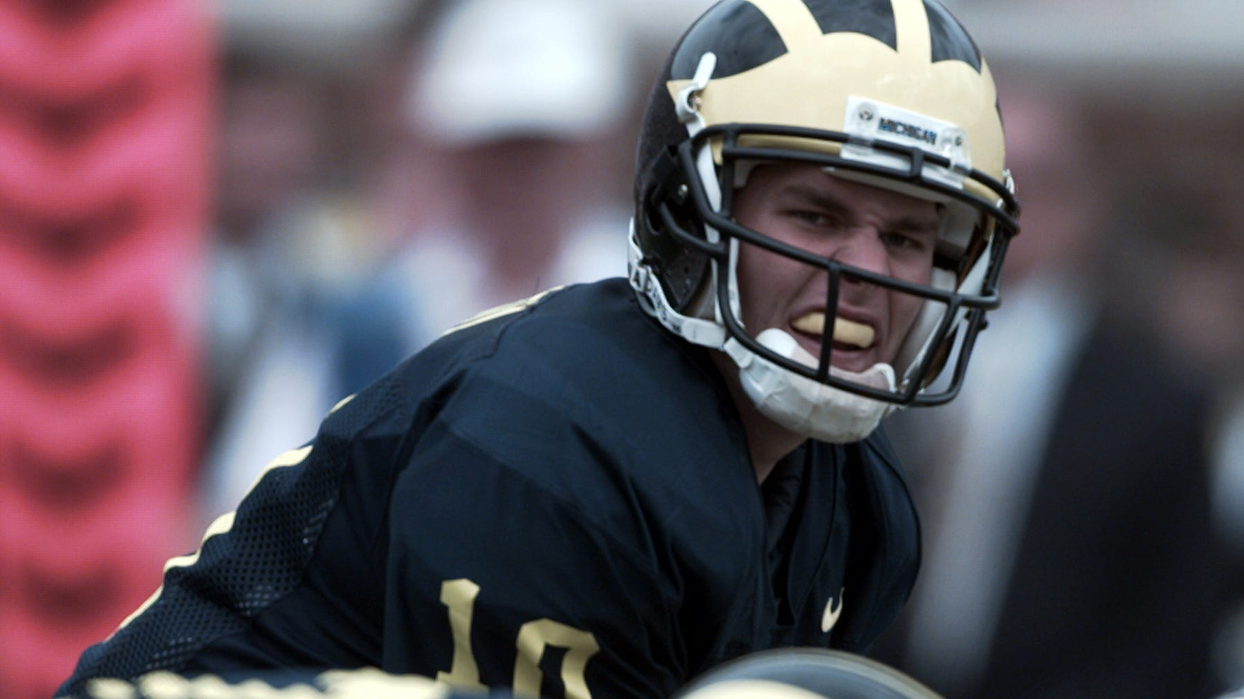 Michigan quarterback Tom Brady gets under center for a few plays against Colorado at Michigan Stadium on Sept 13, 1997.