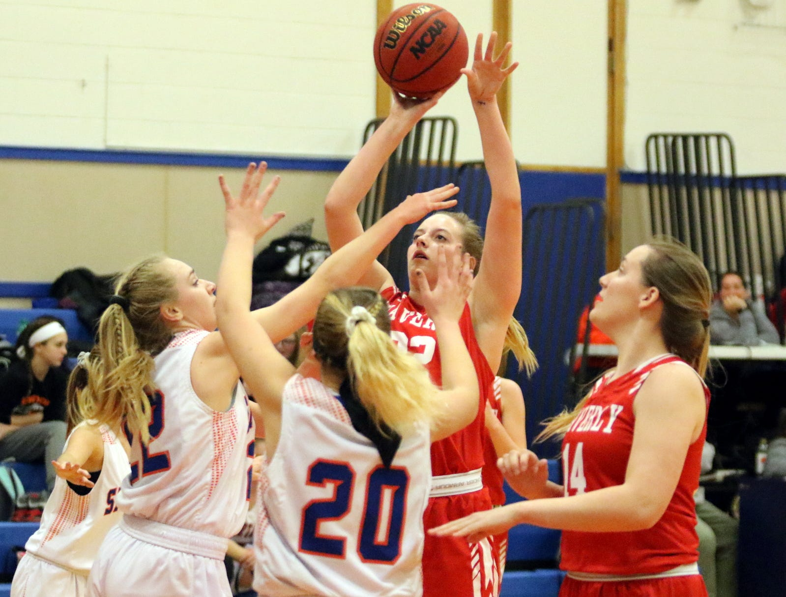 Action from the Waverly girls basketball team's 72-29 victory over Thomas A. Edison on Feb. 1, 2019 in Elmira Heights.