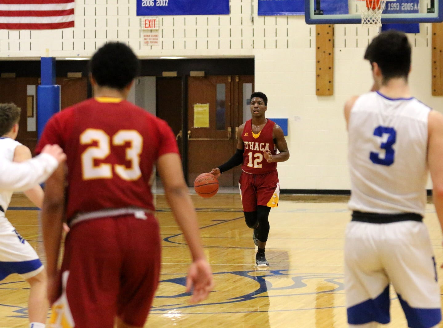 Action from Ithaca at Horseheads boys basketball Feb. 2, 2019 at Horseheads Middle School.