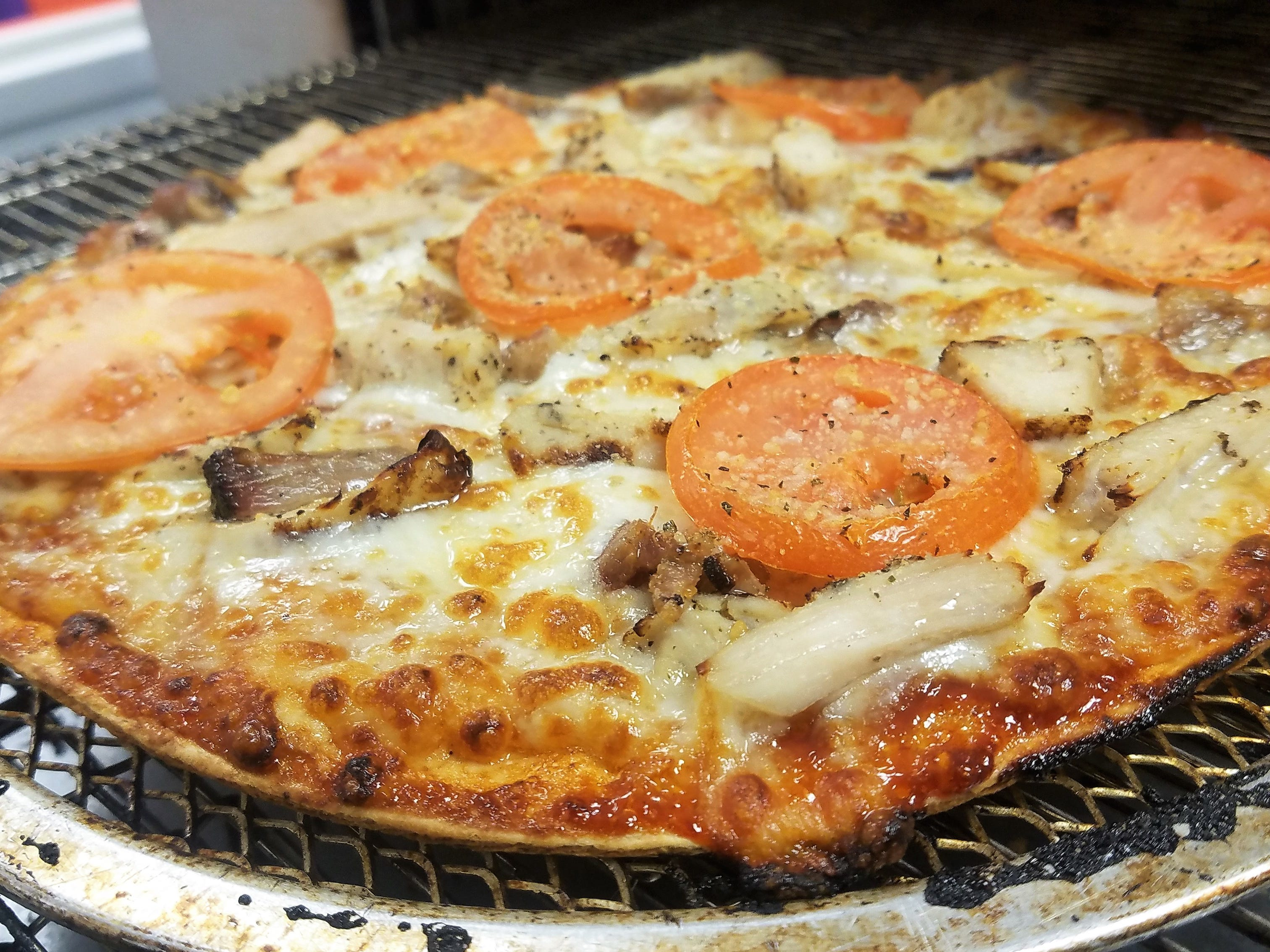 Choose from a large variety of meats and pizza toppings for one price at Keylee's Pizza and Creamery.