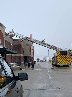 Festival Foods was evacuated Saturday when the building filled with smoke. Firefighters determined the cause was a refrigeration unit leaking oil