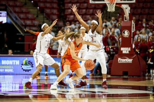 Florida State's defensive intensity led the way during the Seminoles 62-58 victory over Miami on Thursday night at the Tucker Center.