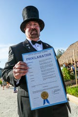 Cape Coral Mayor Joe Coviello, with the proclamation. Cape Coral's inaugural ÒGround-Owl DayÓ ceremony was Saturday, February 2, 2019. The event was hosted by CCFW and Cape Coral Parks and Recreation at the Rotary Community Garden. The owl naming contest winners were announced as well as the Mayor read a  proclamation. Everyone hoped that the new mascot saw his shadow so six more weeks of Òwinter weatherÓ in Cape Coral could be enjoyed. The winning names for the pair of burrowing owls that live next to the City Hall are Owliver and Owlivia.