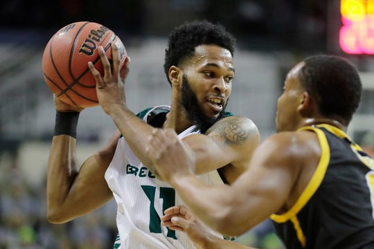 UWGB senior guard JayQuan McCloud has scored 30 or more points four times this season.