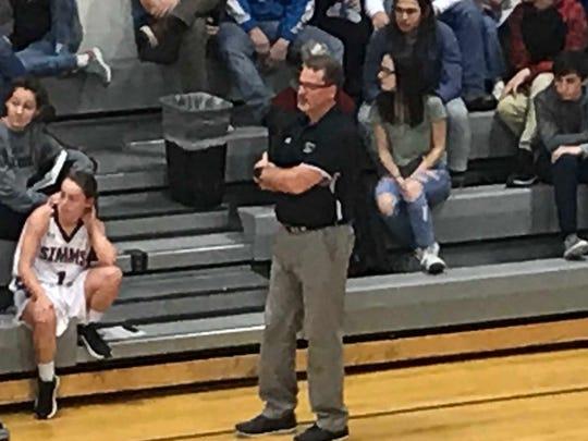 Simms girls' basketball coach Truitt Kinna