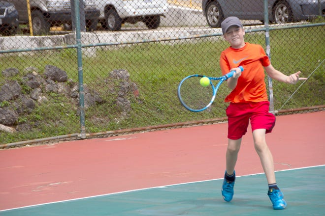 In the Boys U12 Open Division, No. 1 seed Gannon Sweeney beat Logan Schembari 6-7 (9), 6-4, 10-7 in the 2019 Calvo's SelectCare Grand Prix Tournament Feb. 2.