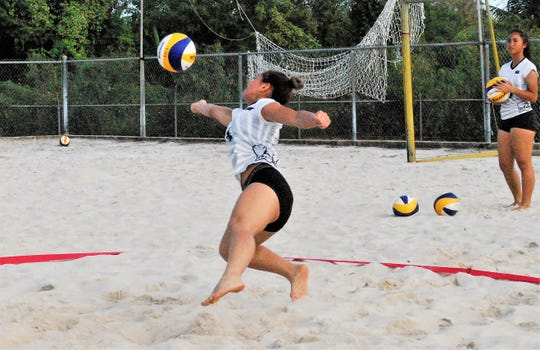 St. John's Red team will take on the Tiyan Titans in the IIAAG Girls Beach Volleyball at 3 p.m. at the Guam Football Association sand courts.