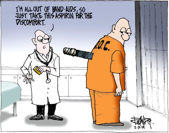 SUNDAY CARTOON ON INMATE HEALTH CARE
