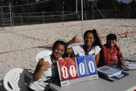 Scenes from the IIAAG Exhibition Beach Volleyball league held Feb. 2 at the Guam Football Association's sand courts.