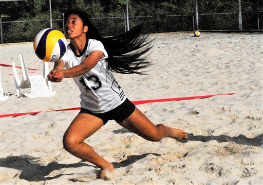 Action from IIAAG Exhibition Beach Volleyball is shown in this Feb. 2 file photo.