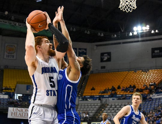 Bronson Kessinger had 16 points on 7-for-7 shooting from the floor against Drake.