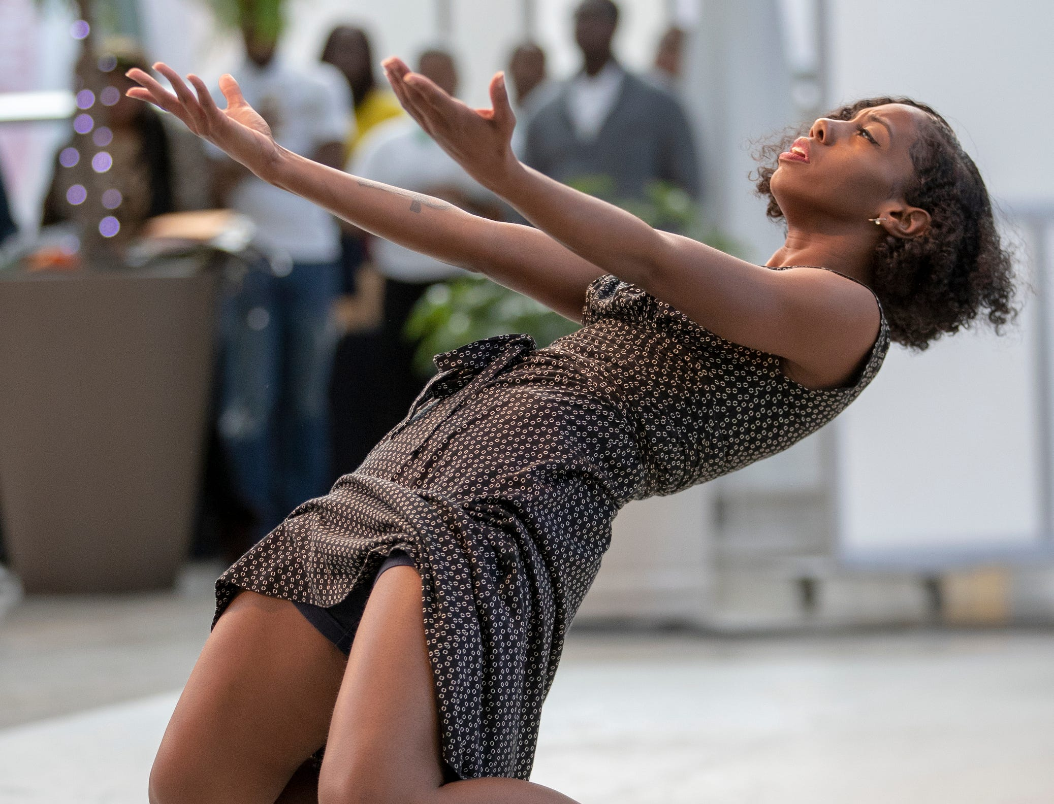 Lalah Hazelwood, featured dancer, performs at the 2019 Art and Soul kickoff celebration at the Indianapolis Arts Garden, Indianapolis, Saturday, Feb. 2, 2019.
