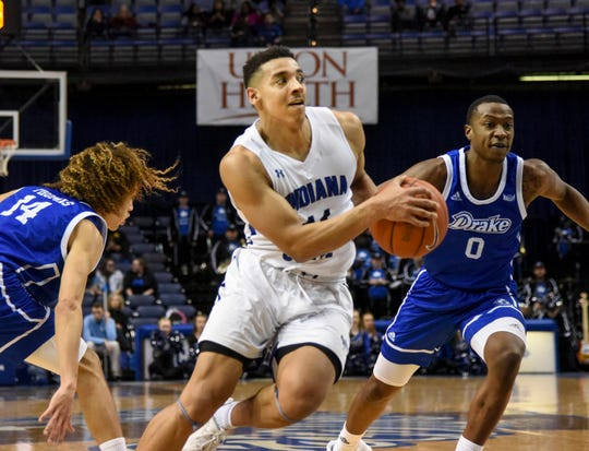 Tyreke Key scored a game-high 23 points in Indiana State's loss to Drake on Saturday.