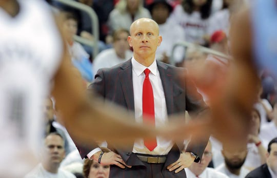 Courier Journal reporter Danielle Lerner has serious doubts that Louisville coach Chris Mack has any NCAA playing eligibility left.