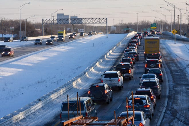 Traffic was at a standstill on southbound U.S. 127 on Friday afternoon because of a crash.