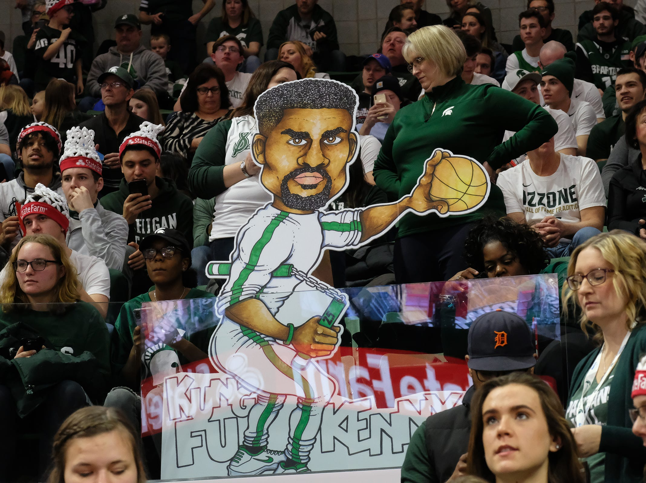 Some of the signage on display at the ESPN College GameDay at the Breslin Center Saturday, Feb. 2, 2019.