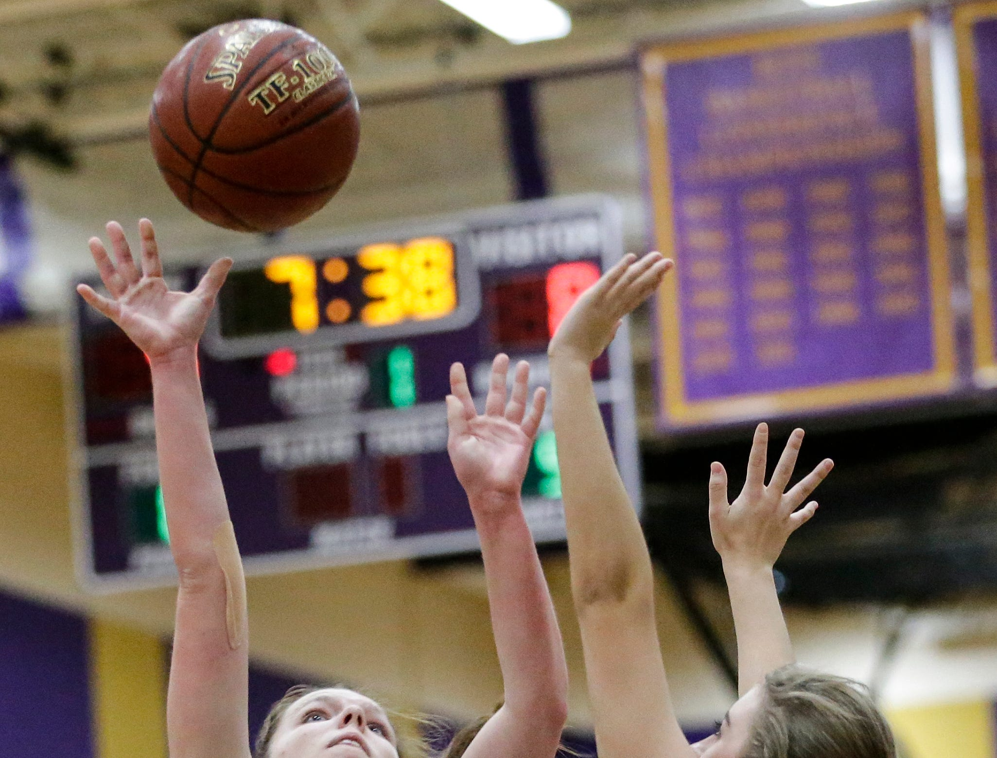 Roncalli's Genna Schramm (20) shoots against Two Rivers at Two Rivers High School Friday, February 1, 2019, in Two Rivers, Wis. Joshua Clark/USA TODAY NETWORK-Wisconsin