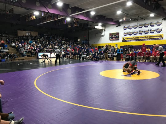 Lexington High School put down six mats and hosted Saturday's Division II regional action in the OHSAA team wrestling tournament.