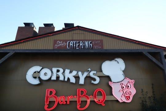Corky's BBQ on Poplar Avenue Wednesday, Jan. 30, 2019.