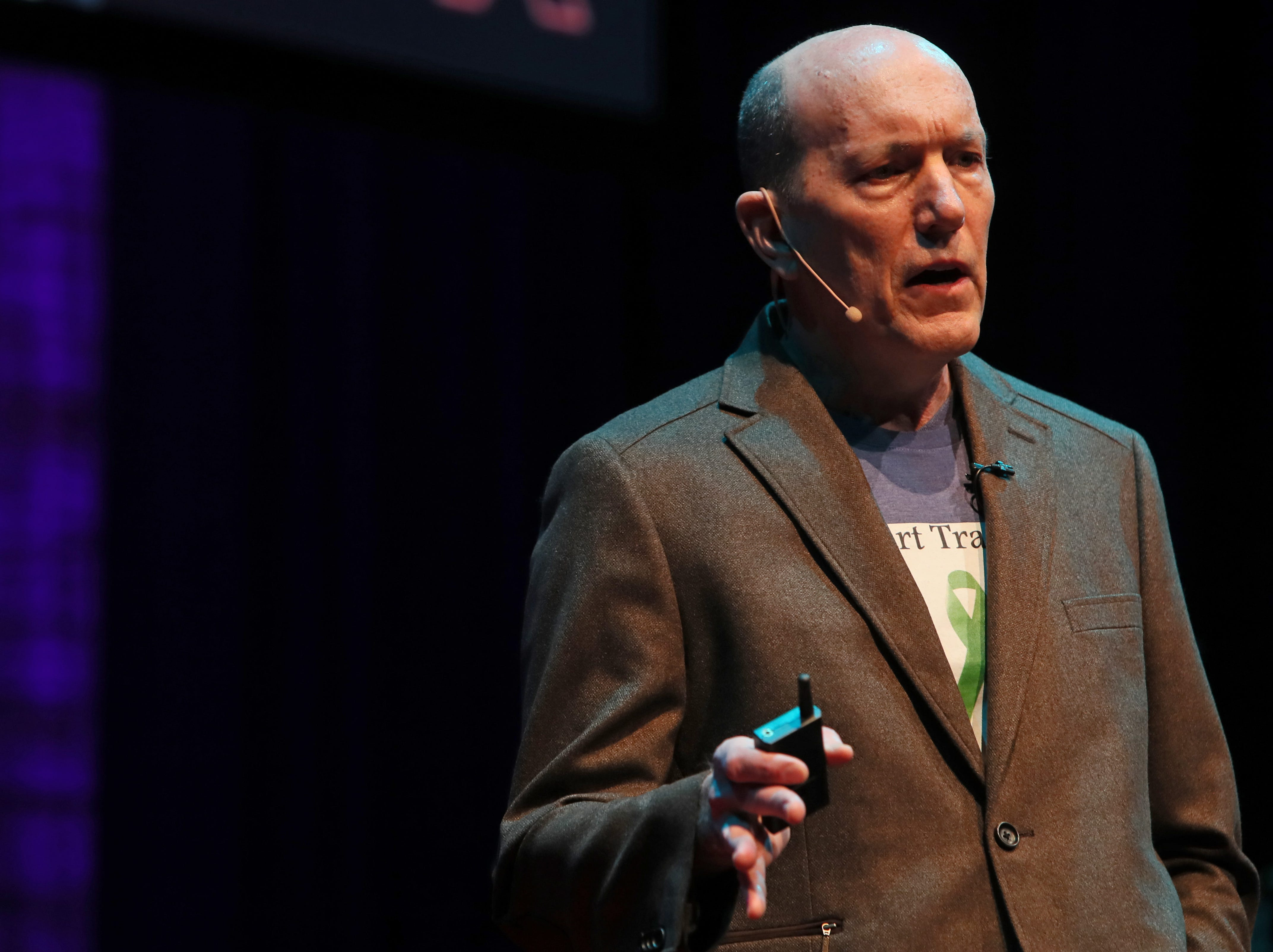 John Daniel speaks about life, loss and perseverance during a TEDx Memphis event at the Crosstown Arts Theatre Saturday, Feb. 2, 2019.