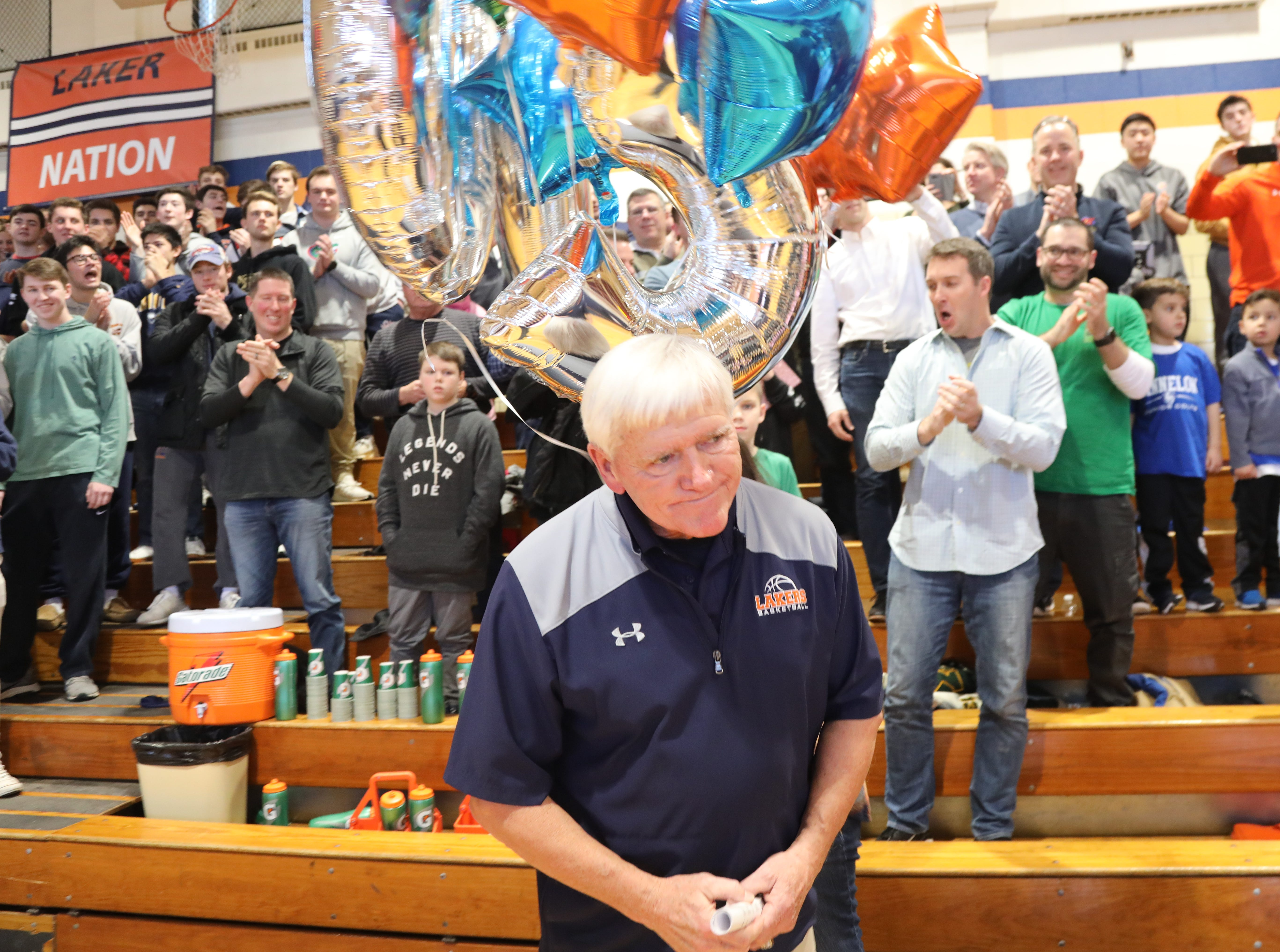 Mountain Lakes head coach John ByDook is honored after recording his 500th career win.