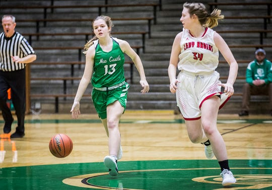 New Castle faces off against Blackford during their sectional game at New Castle High School Friday, Feb. 1, 2019.