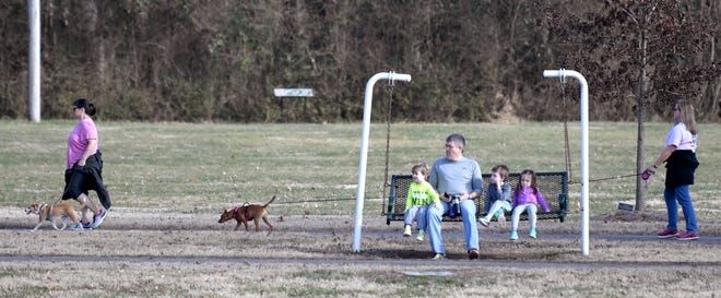 Franklin's Pinkerton Park was busy with visitors during the warmer weather on Sat., Feb. 2, 2019.