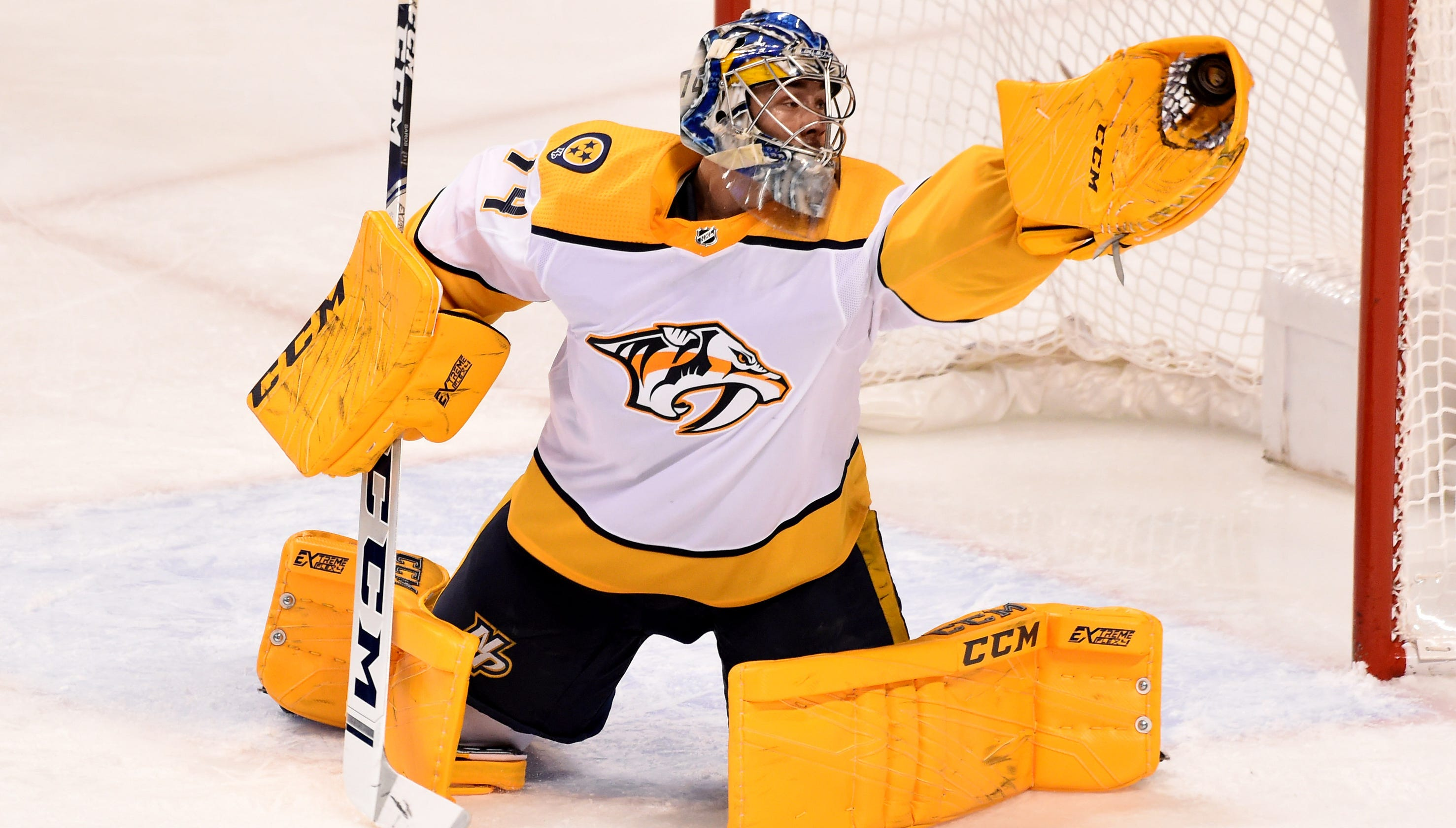 f484dc0fa5d Predators  Juuse Saros and his pads have been gold lately