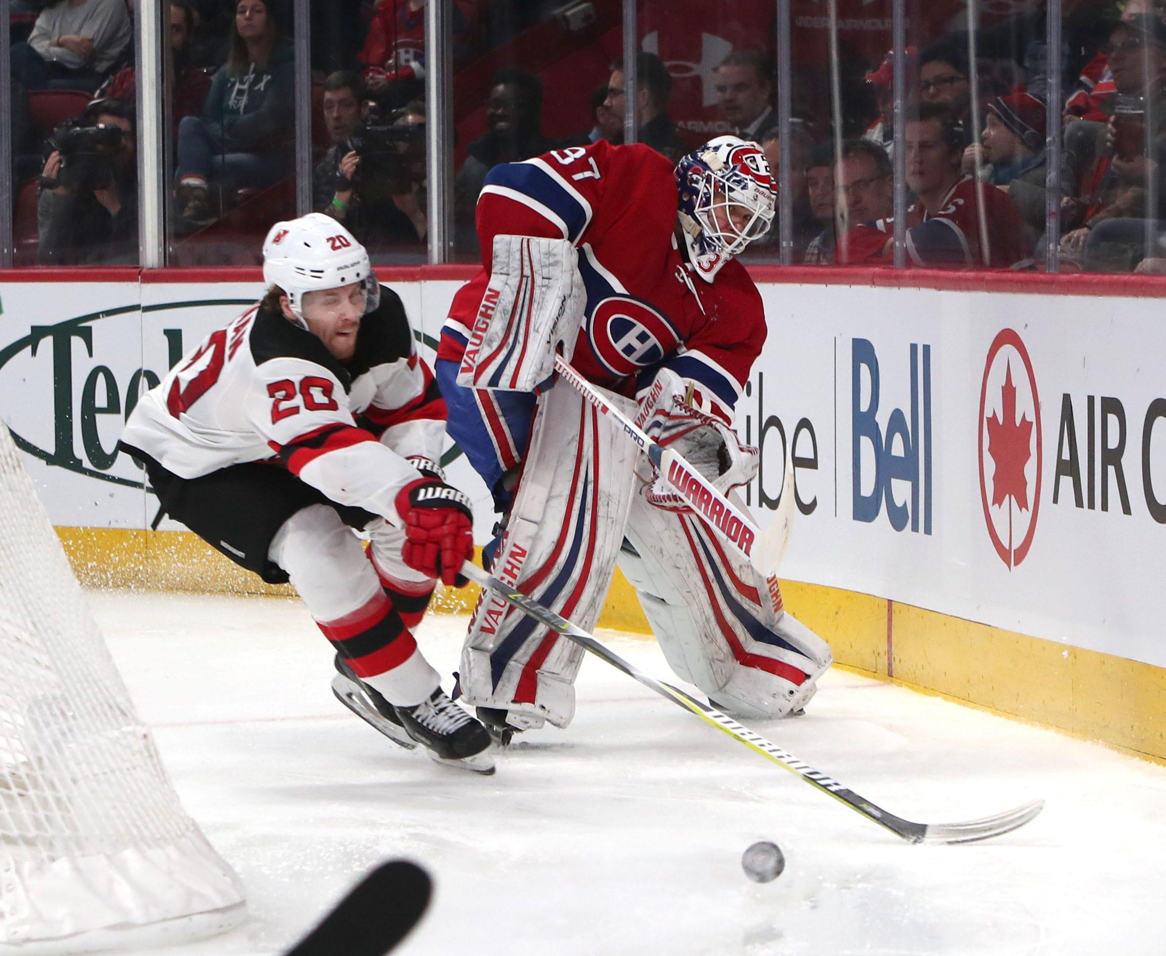 c8e1edf1d Nico Hischier scores twice to lead NJ Devils to OT win over Canadiens