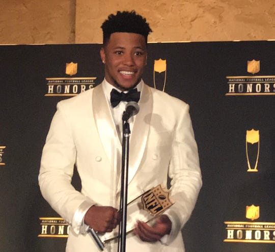 Giants' Saquon Barkley Wins NFL Offensive Rookie Of The Year
