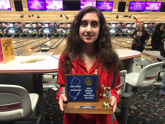 Parsippany senior Lauren Marks won the North girls bowling sectional high series award by throwing a 689 series on Saturday, Feb. 2, 2019 at Bowler City in Hackensack.
