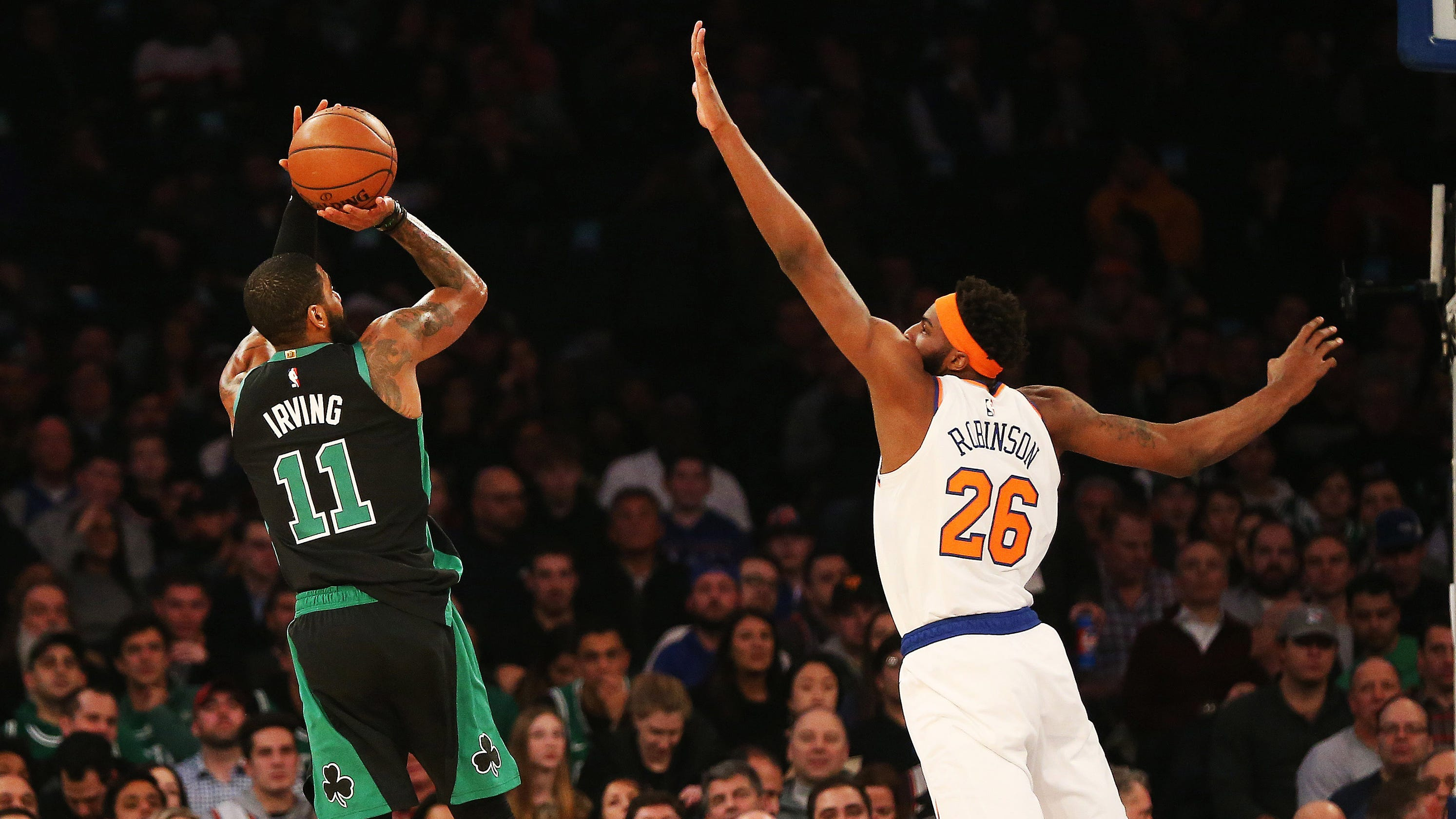 46d990efd6c Kyrie Irving recruitment underway as New York Knicks lose to Celtics