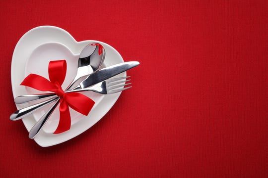 Special dinner menus, heart-shaped sandwiches and a 21-and-older mixer are among the ways singles and couples can mark Valentine's Day in Ventura County.