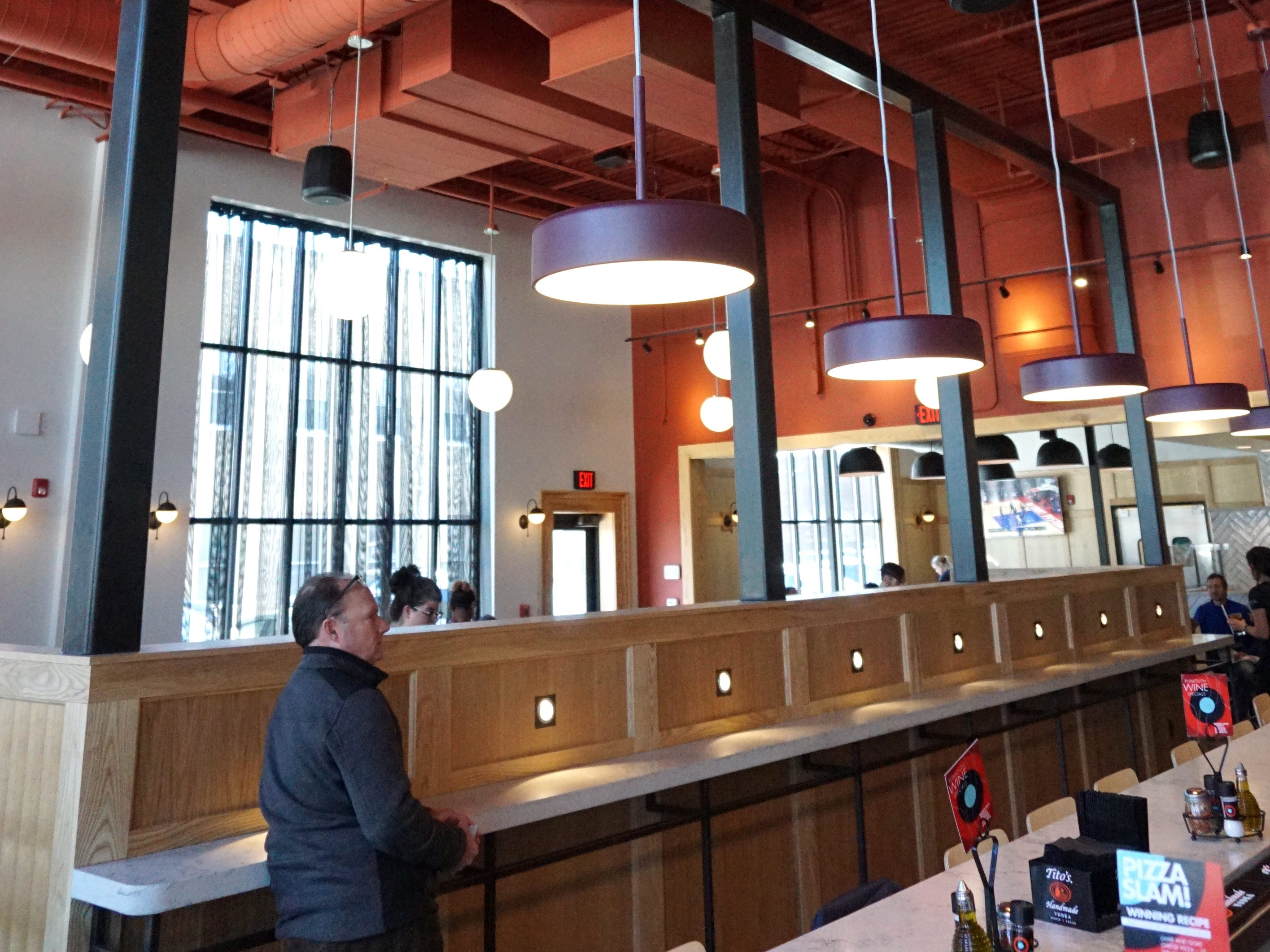 Bigalora has high ceilings at its downtown Plymouth location.