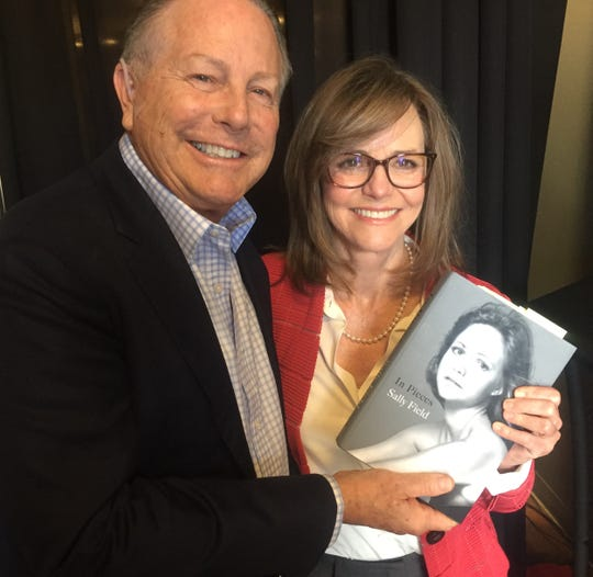 Sally Field poses with Jamie Kabler after completing their Q&A Friday at the Rancho Mirage Writers Festival