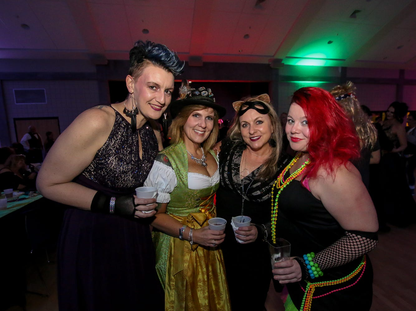 Featuring music by Raised-On-The-Radio, the Mystic Order of Revelry and the krewes of Brew, los Muertos, Cerveza, and Silver Slipper hosted thier 3rd annual Joint Mardi Gras Ball at the Sanders Beach-Corinne Jones Resource Center on Friday, February 1, 2019.