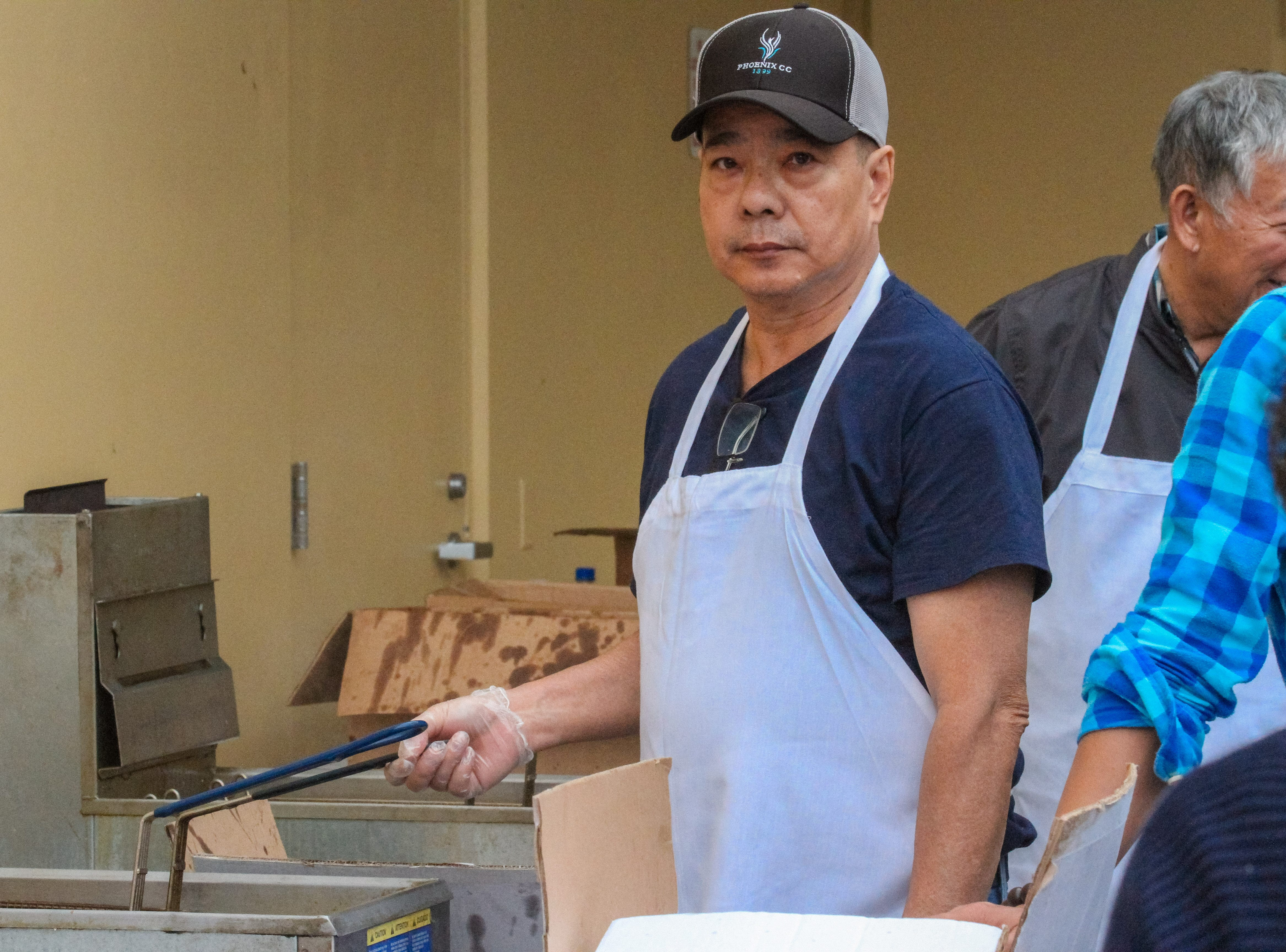 The Chinese Restaurant Association feed nearly 1,000 homeless people at CASS and Human Services Campus as part of the Lunar New Year Celebration in Phoenix, Arizona On Saturday, Feb. 2, 2018.