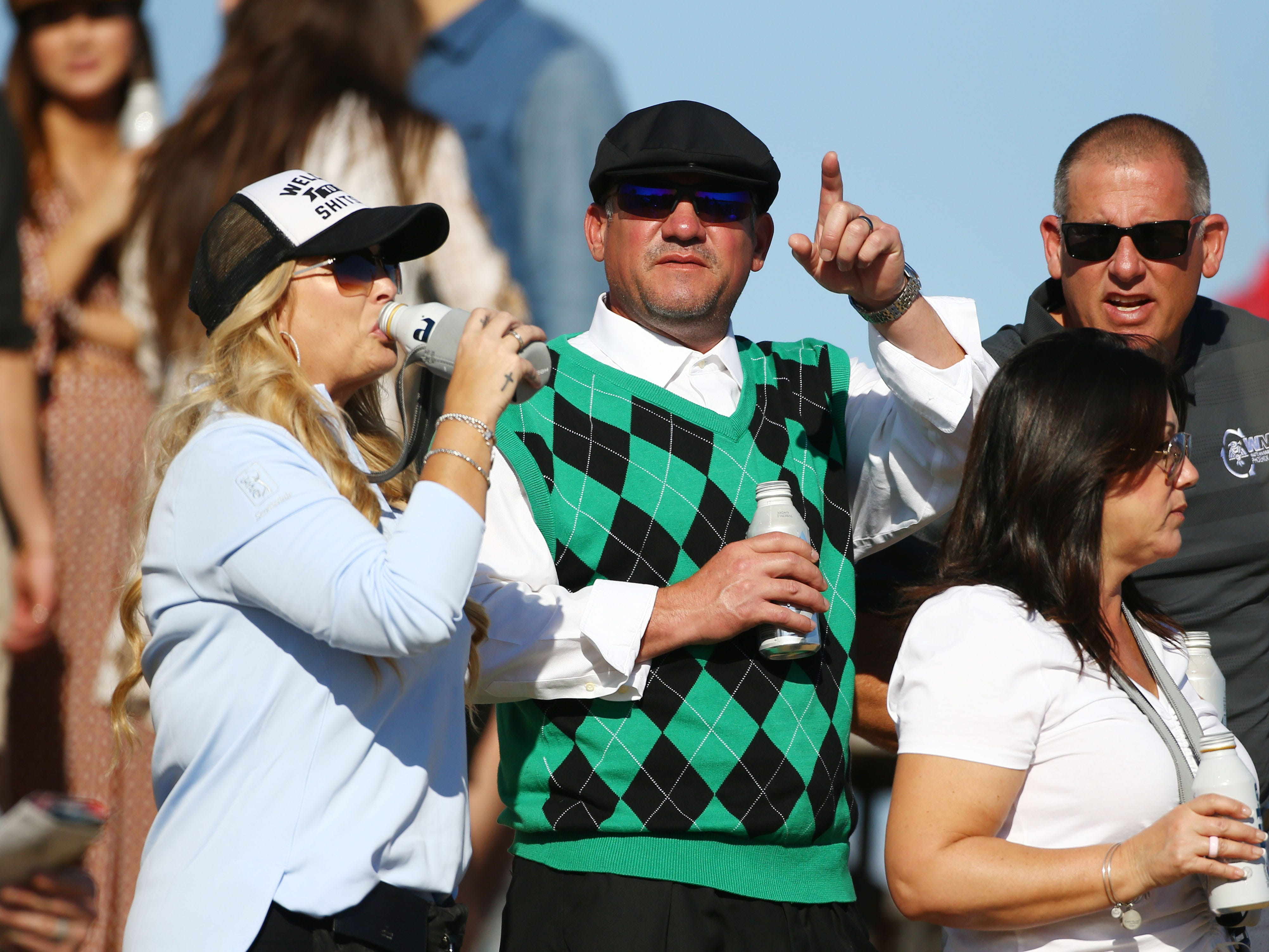 Spectators watching on the 12th hole during second round action on Feb. 1 during the Waste Management Phoenix Open at the TPC Scottsdale Stadium Course.