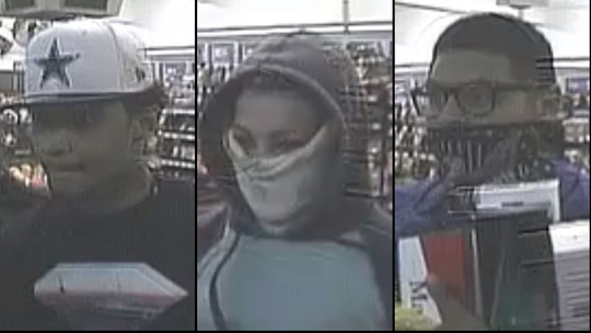 Three suspects connected to a Circle K robbery that occurred on January 14, 2018