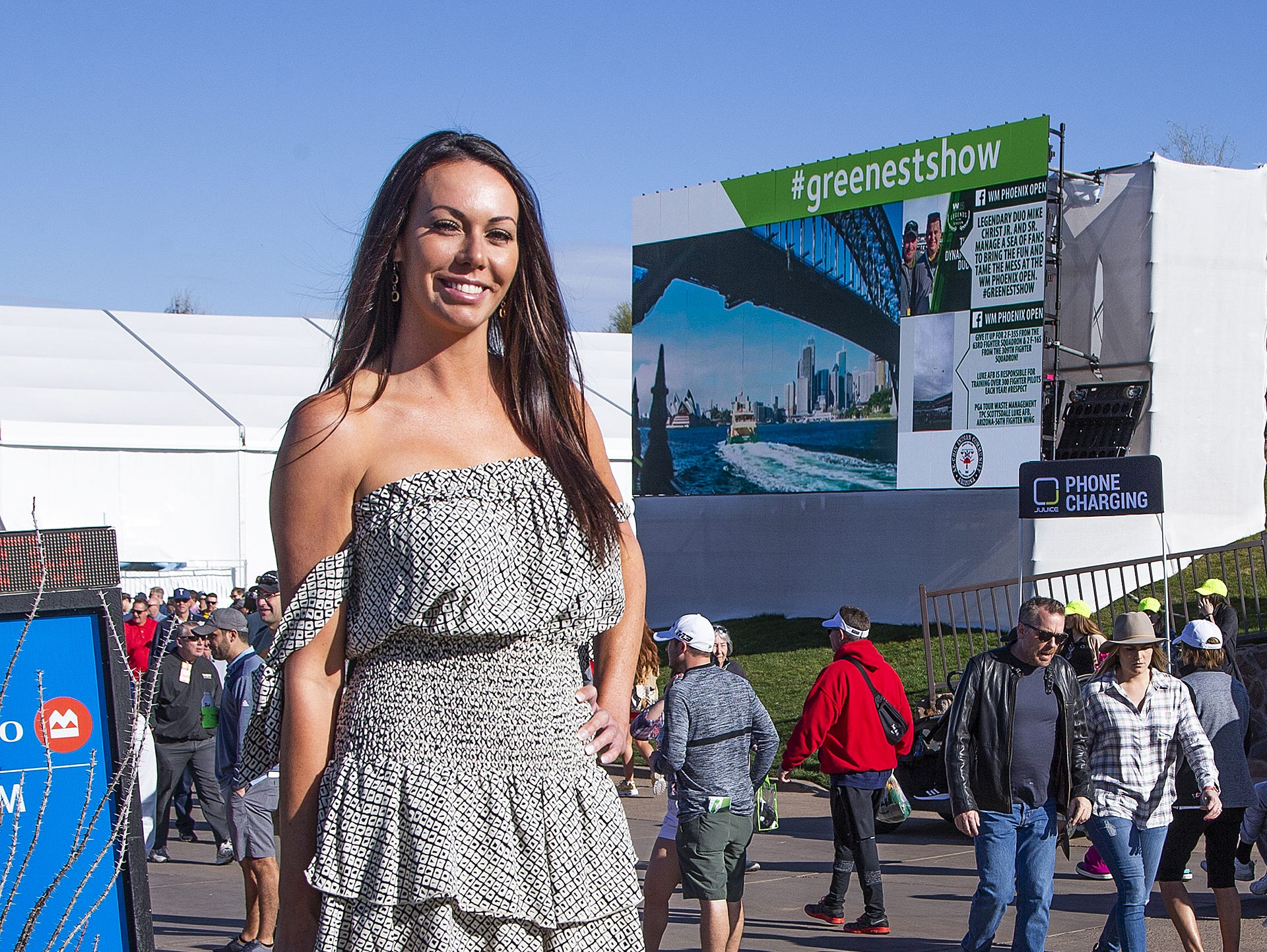 Jamie Wray, 35, Scottsdale, dressed fine for the second round of the Waste Management Phoenix Open at the TPC Scottsdale, Friday, February 1, 2019.