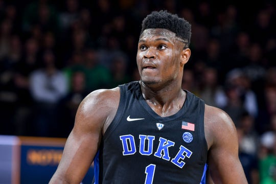 Duke freshman forward Zion Williamson is averaging 22 points with 9.2 rebounds and 2.4 assists per game.