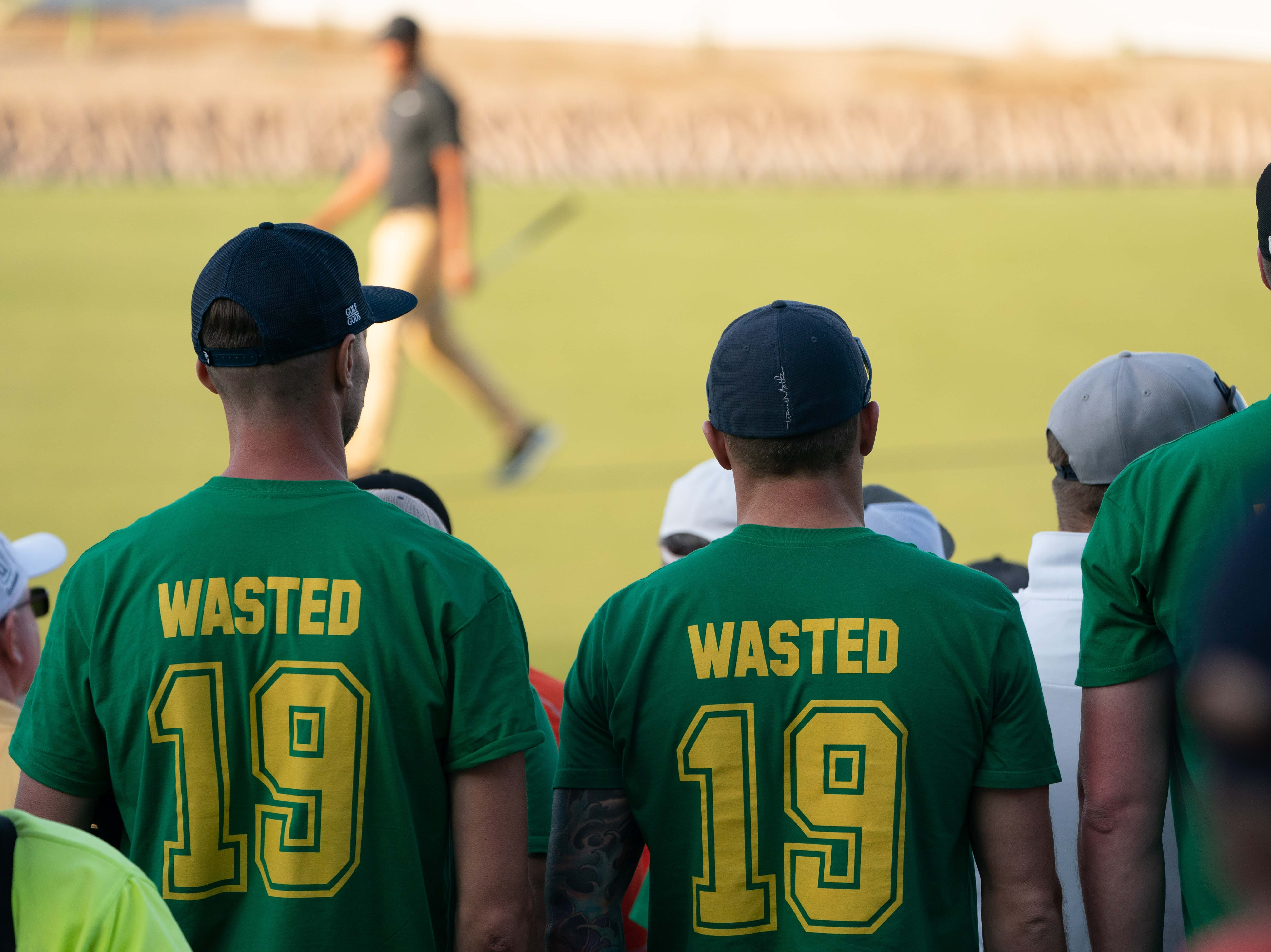 'Wasted' fans watch the second round of the 2019 Waste Management Phoenix Open.