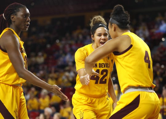 Arizona State, seen here at home against Arizona, hit four straight shots and 7 of 8 and outscored Washington State, who missed their first eight shots, 21-9 in the third quarter.