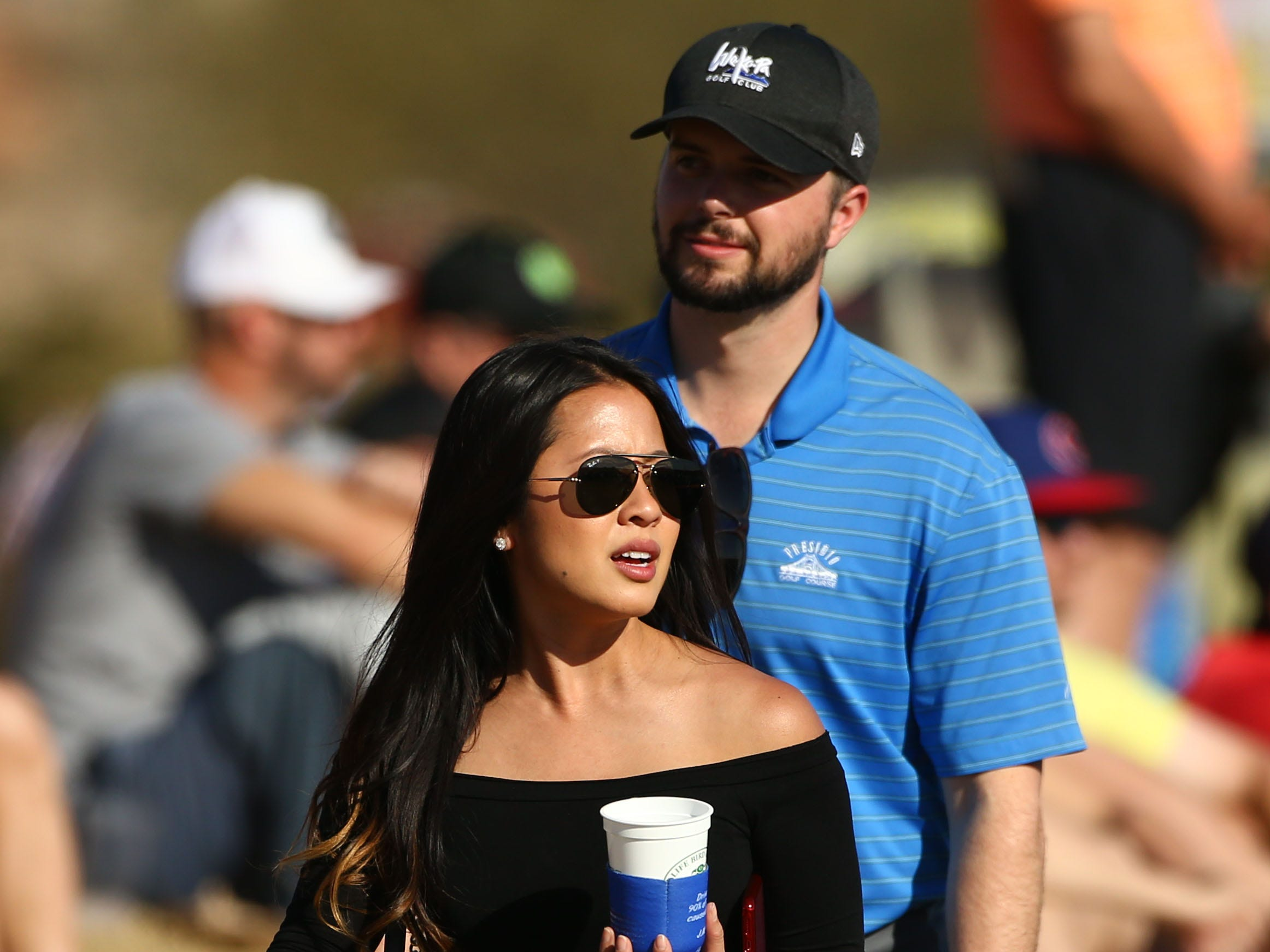 Spectator walks on the 12th hole during second round action on Feb. 1 during the Waste Management Phoenix Open at the TPC Scottsdale Stadium Course.